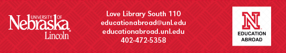 MyWorld - Education Abroad Office | University of Nebraska-Lincoln | 402-472-5358 | www.educationabroad.unl.edu
